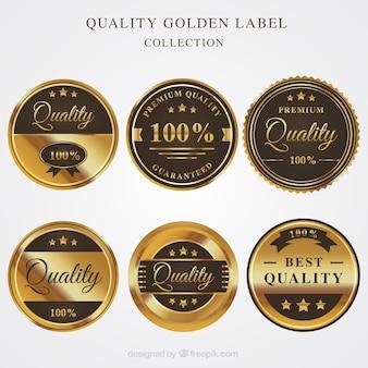 Premium Gold Retro Aufkleber
