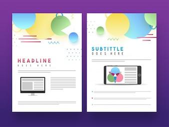 Professionelle Broschüre, Cover Design oder Template Layout.