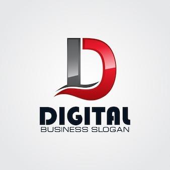 Professionelle Buchstabe D Logo