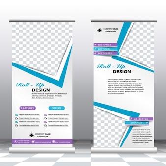 professionelle Business-Banner aufrollen