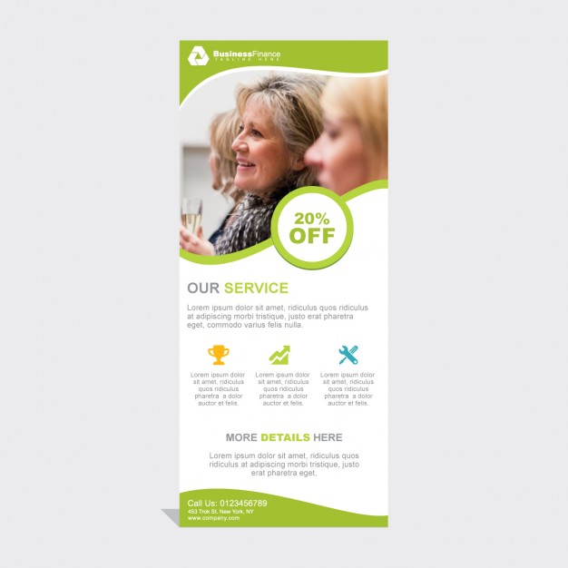 Professionelle RollUp Banner