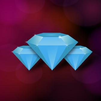 """""""Diamant mit lila Hintergrund"""""""