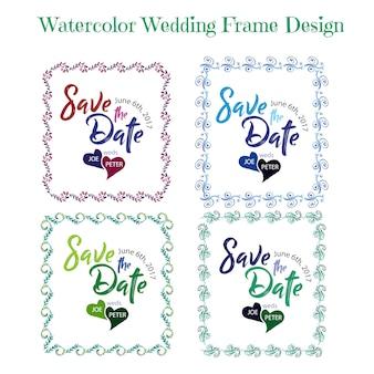 """""""Hochzeitsrahmenkarte"""""""