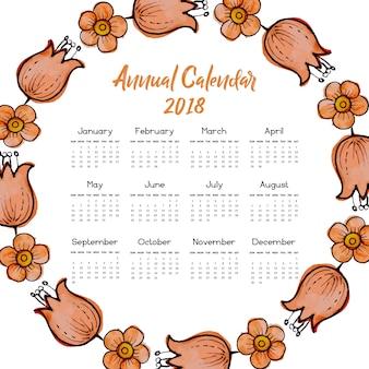 """""""Orange Blumenkranz-Kalender 2018"""""""