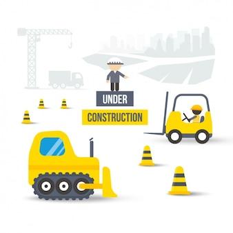 """""""Under construction"""" Hintergrund"""