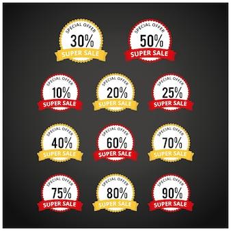 Rabatt Preisschilder Vektor