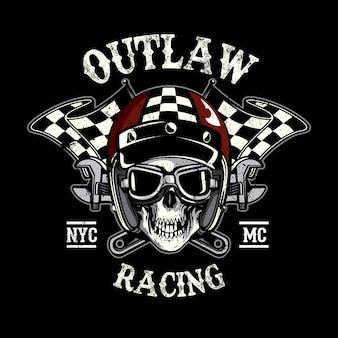 Racing Schädel Hintergrund