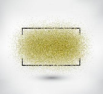 Rahmen mit glitter Hintergrund