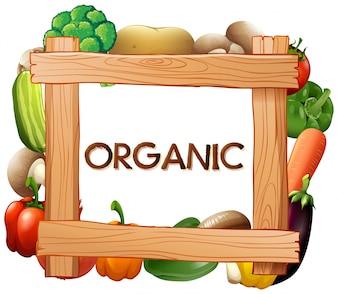 Rahmenschablone mit frischem Gemüse