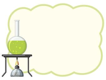Rahmenschablone mit grüner Chemikalie