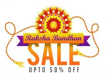 Raksha Bandhan Verkaufsplakat, Fahne oder Flyer.