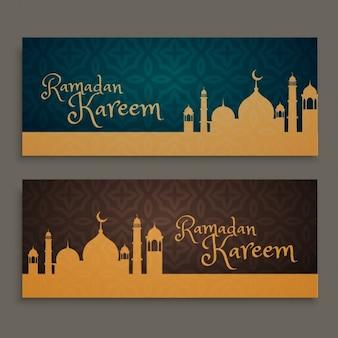 Ramadan Kareem Banner gesetzt