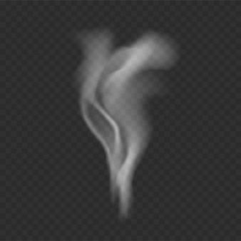 Rauchschablone auf transparentem Hintergrund