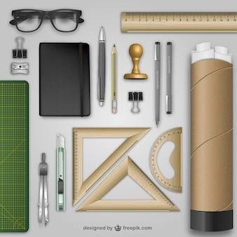 Realistische Architekten Schreibtisch