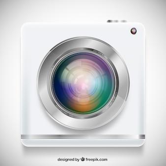 Realistische Kamera isoliert