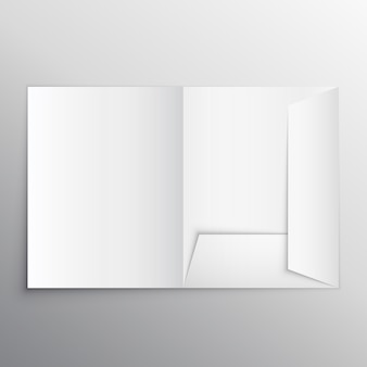 Realistische leere Ordner Design-Vorlage Mockup