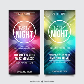 Realistische Party Flyer Template Pack