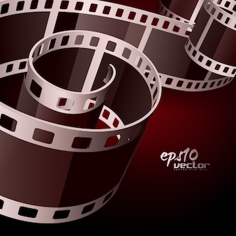 Realistische Vektor-3D-Filmrolle