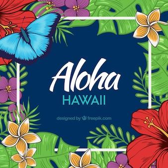 Realistischer aloha hintergrund