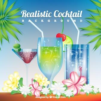 Realistischer Cocktailhintergrund