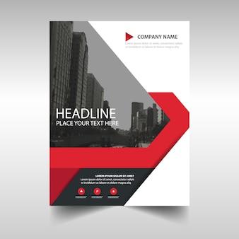 Red kreative Jahresbericht Bucheinbandes Vorlage