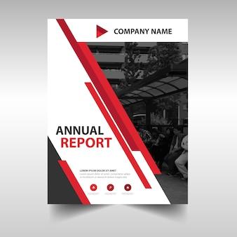 Red kreative Jahresbericht Buchumschlag Vorlage
