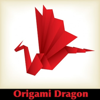 Red Origami-Drachen