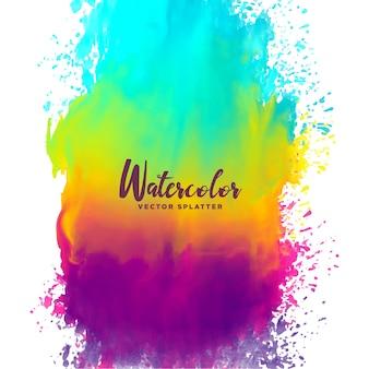 Regenbogen Farbe Aquarell splash Fleck Hintergrund