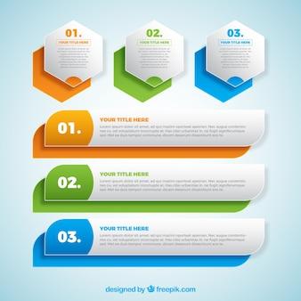 Reihe von bunten Banner Infografik