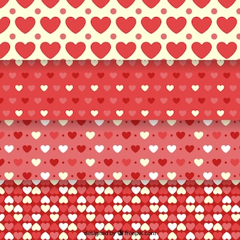 Reihe von dekorativen Herzen Muster