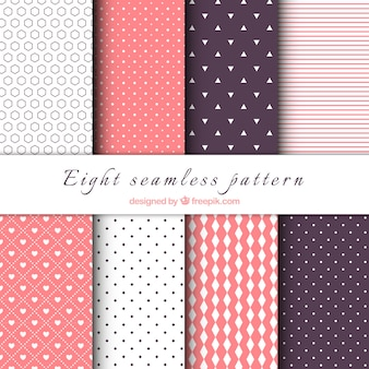 Reihe von dekorativen Muster mit geometrischen Formen
