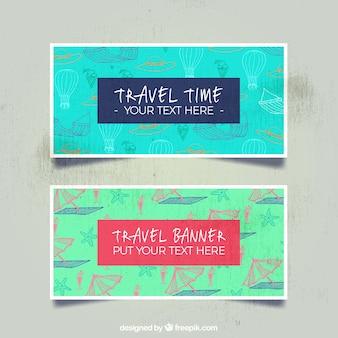 Reise-Banner mit Muster Hintergrund