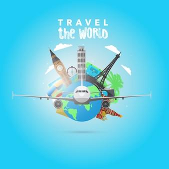 Reise Hintergrund Design