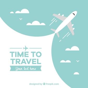 Reise-Hintergrund mit Flugzeug-Design
