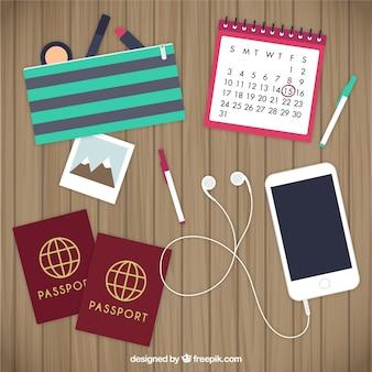 Reiseplanungselemente