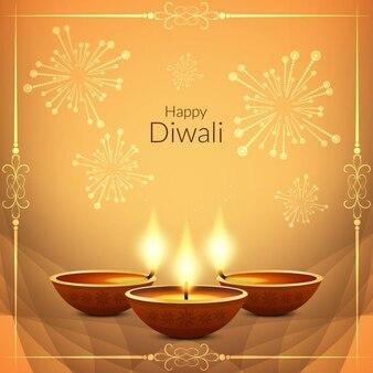 Religiöse Glückliches Diwali schönen Hintergrund Design