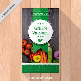 Restaurant-Broschüre mit Gemüse