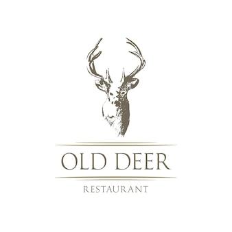 Restaurant-Logo mit Hirsch-Design