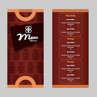 Restaurant-Menüvorlage