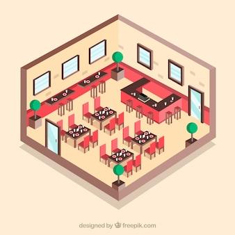 Restaurant schneiden Aussicht