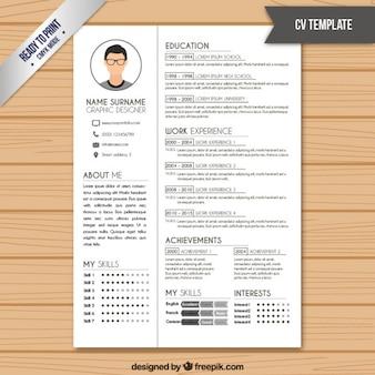 Resume-Vorlage in der weißen Farbe