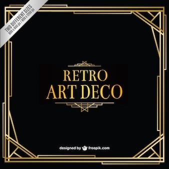 Retro Art-Deco-Hintergrund