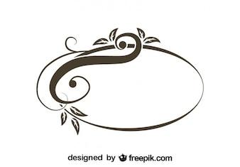 Retro asymmetrisch oval Wirbel stilvolles Design