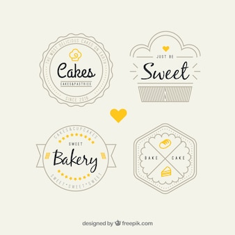 Retro Bäckerei Logos Pack