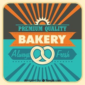 Retro Bäckerei Plakatgestaltung