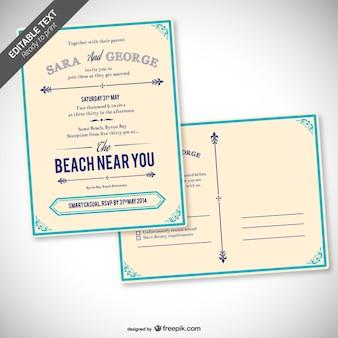 Retro editierbare Hochzeitseinladung