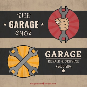 Retro Garage Etiketten