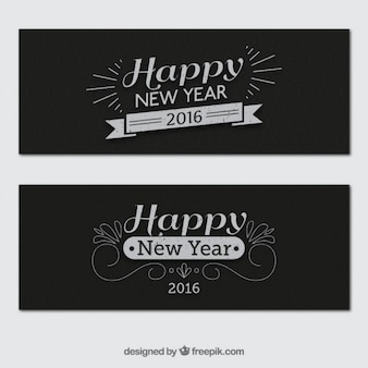 Retro Neujahr Banner