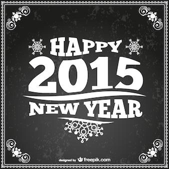Retro-Stil Karte des neuen Jahres