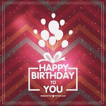 Retro typografische Geburtstagskarte